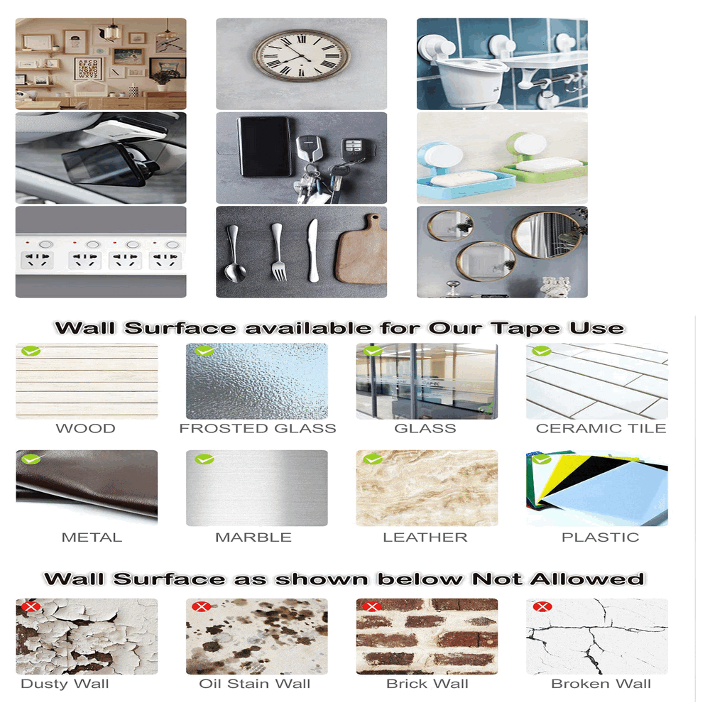 Adhesive Tape Double Sided Traceless Washable Gel Nano Reusable Anti Slip Multifunctional Removable for Carpet